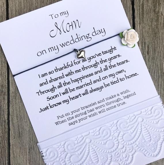 Favoriete Moeder van de bruid armband hart wensen armband cadeau voor | Etsy @PQ51