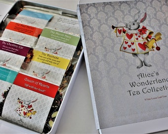 Alice's Wonderland Tea Collection - Inspired by the Alice's Adventures in Wonderland Tales - Tea Gift - Literary Gift - Bookish Gift