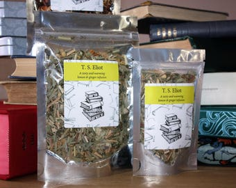 T. S. Eliot Inspired Tea - Poet -  Literary Tea  - Teacher Gift - Graduation - Tea Gift - Literary Gift - Bookish Gift - Poets Gift - Tea -