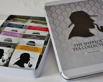 The Sherlock Tea Collection  - Tea Gift - Literary Gift - Bookish Gift - Author Gift-  Loose Leaf Tea - Tea - Sherlock Holmes Tea