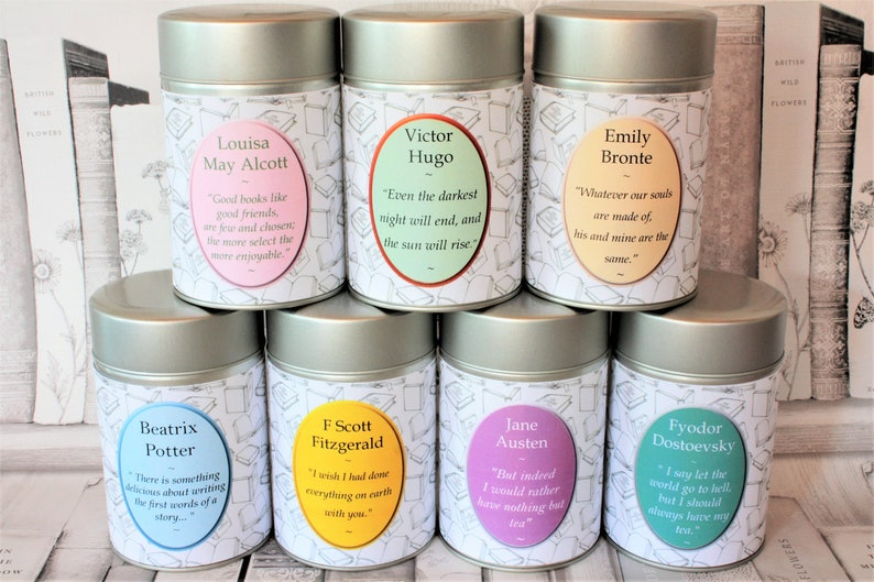 Literary Teas  48 Authors and Poets to Choose From  Writers image 0