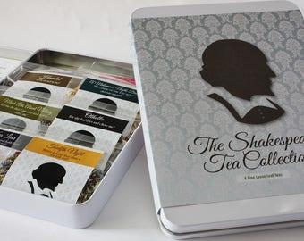 The Shakespeare Tea Collection - Literary Tea Collection - Tea Gift - Literary Gift - Bookish Gift - Author Gift-  Loose Leaf Tea - Tea