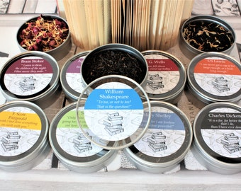 Literary Teas Novelette Gift Tins - 60 Literary Greats to Choose from!
