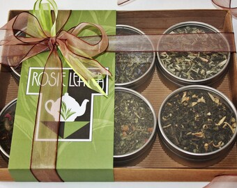 Flavoursome Green Teas Gift Selection - Tea Gift - Green Loose Leaf Tea -  Loose Leaf Tea Sets -Tea