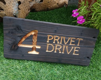 Custom made rustic reclaimed wood engraved door sign / house number plaque with burnt finish