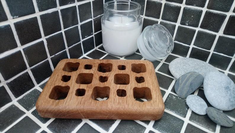 Gorgeous wooden solid oak soap dish  home decor / accessories image 0