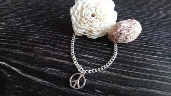 "Beautiful silver plated pentagram charm anklet 9-11/"" ankle bracelet pentangle"