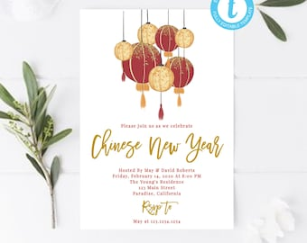 chinese new year invitation chinese new year party chinese invitation cards chinese new year pig card year of the pig spring festival