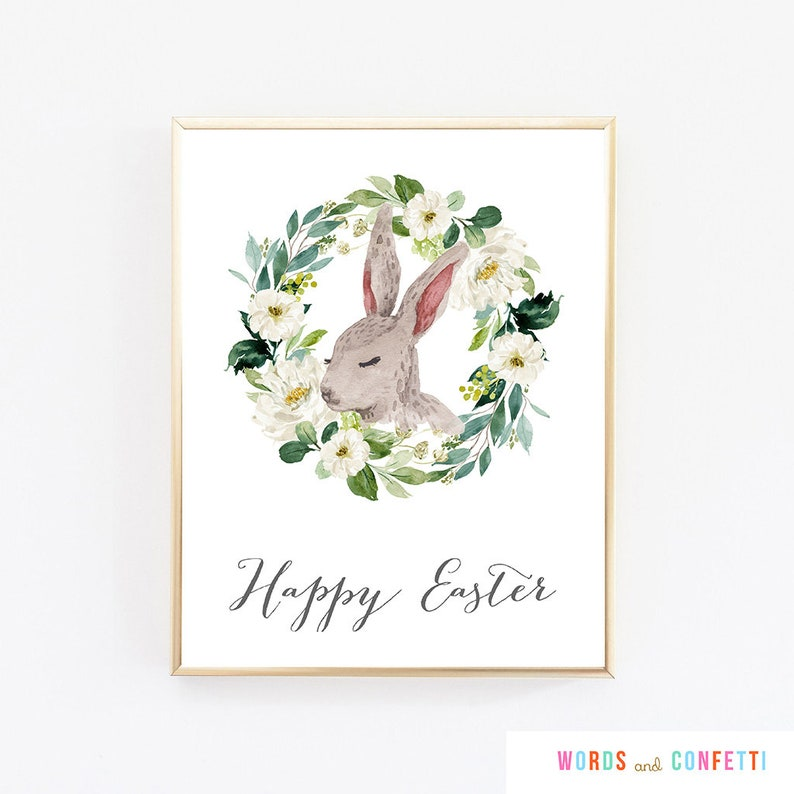 image regarding Printable Easter Decorations identify Pleased Easter Signal Printable, Easter Decorations Programs, Easter Decor Rustic, Printable Easter Indication, Easter Print, Easter Wall Artwork, Poster
