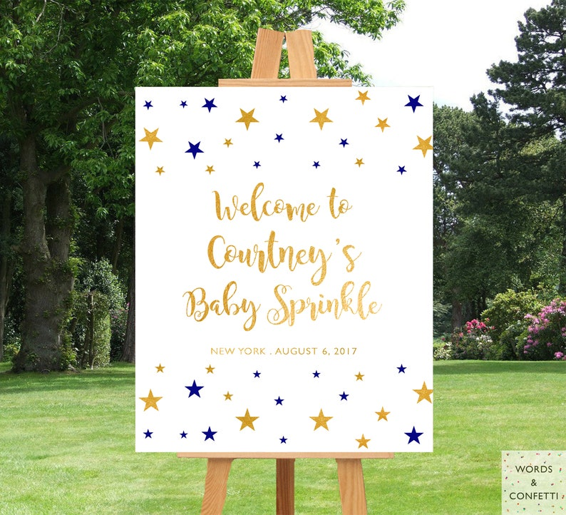 Baby Shower Stars Themes, Twinkle Twinkle Little Star Baby Shower, Girl  Baby Shower Decorations, Baby Shower Decor, Boy Baby Shower, Gold