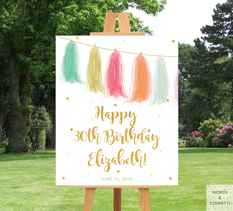 Birthday Banner Personalized Printable