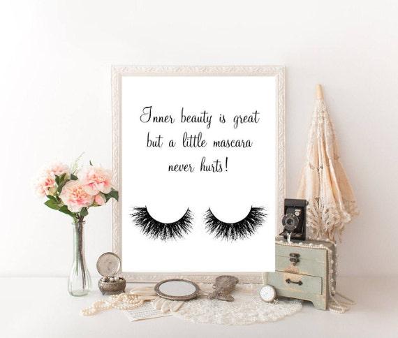 Makeup Quotes Makeup Wall Decor Makeup Decor Makeup Canvas Etsy