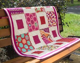 Baby girl  quilt (blanket)