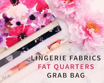 Lingerie Fabrics Fat Quarters Grab Bag Bundle - Perfect for  Lingerie Making Bra Making