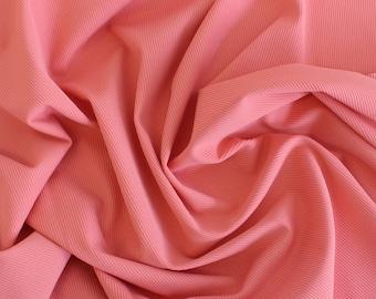 1/2 YD Coral Ribbed Swimwear Activewear Nylon Spandex Fabric (Matte)