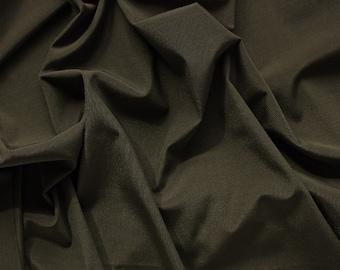 1/2 YD Olive Ribbed Swimwear Activewear Nylon Spandex Fabric (Shiny)
