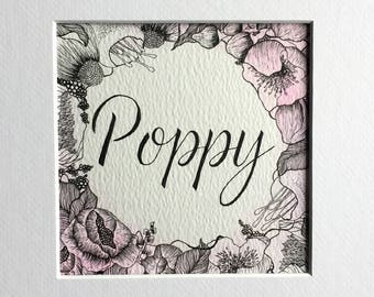 NAME- custom made, original, hand drawn, perfect gift for any occasion