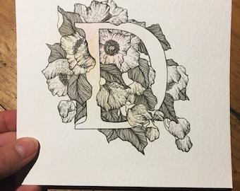 letter 'D' -example- custom order