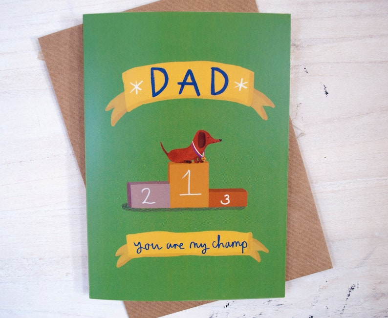 4090bc1cc2b8d Sausage dog father's day card, Funny Father's Day Card, Card for Dad,  Alternative Father's Day Card, Dog dad card, Card for him, Dad day