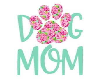 Dog Mom Vinyl Decal, Car Decal, Yeti Decal, Mug Decal