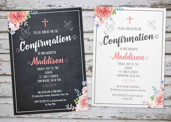confirmation invitation confirmation thank you card etsy