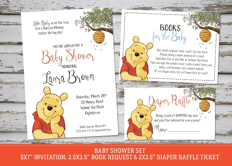 photo about Printable Winnie the Pooh Baby Shower Invitations identify Winnie the Pooh Kid Shower Invitation, Winnie the Pooh Printable Shower Invite, Go through Boy or girl Shower Invite, Do it yourself Invite