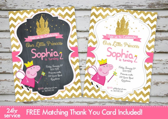 Peppa Pig Invitations Peppa Pig Princess Invitation Peppa Pig