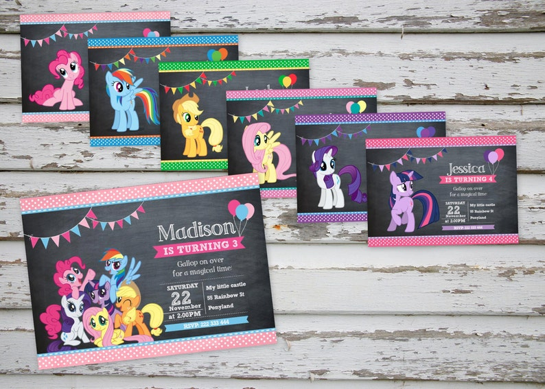 image regarding My Little Pony Printable Invitations called My Very little Pony Invitation Do it yourself Printable, My Very little Pony Bash, My Minor Pony Birthday