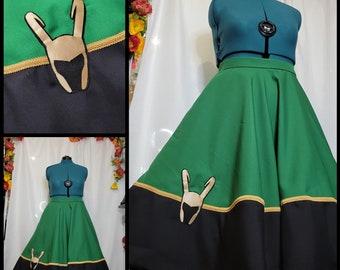 Glorious Purpose~ Loki Inspired Circle Skirt