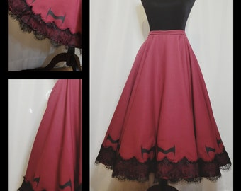 Scarlet Witch Inspired Circle Skirt