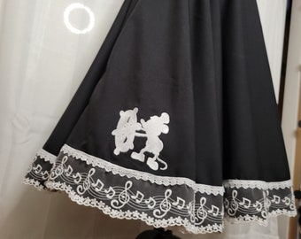 Vintage Mouse Full Circle Skirt
