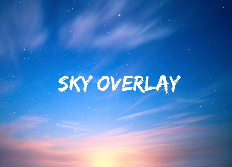Sunset Sky Overlay, Starry night sky, Wallpaper Photo Overlays, Blue Sky,  Cloud Texture, Lightroom Photoshop Edit, Background Replacement