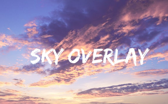 Sunset Sky Overlay Pastel Pink Clouds Wallpaper Photo Overlays Blue Sky Cloud Texture Lightroom Photoshop Edit Background Replacement