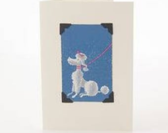 Art Deco Greetings Card: Animals by Vintage Playing Cards FREE UK SHIPPING!