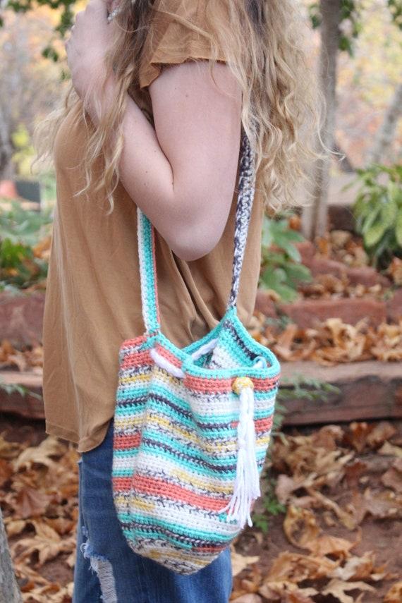 Crochet Pattern Drawstring Bag The Attica Drawstring Pouch Etsy