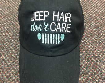 Jeep Hair Don't Care hat  (grill/headlights design)