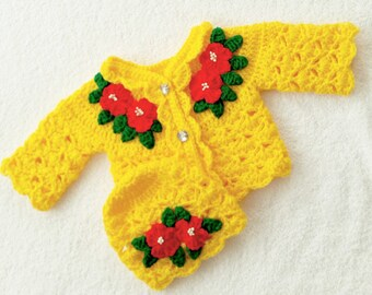 Crochet Baby Cardigan Pattern Baby Crochet Patterns Crochet Etsy