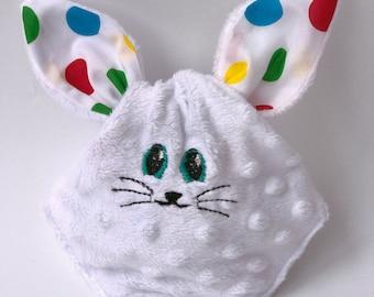 Easter basket, boys/girls easter basket, Bunny ears, treat bag, Easter bunny ear bag, Easter egg hunt bag,Personalised Easter Basket