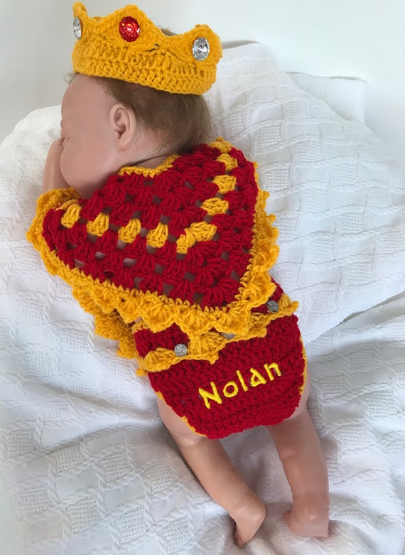 & Baby King Outfit Baby King Costume Newborn King photo prop