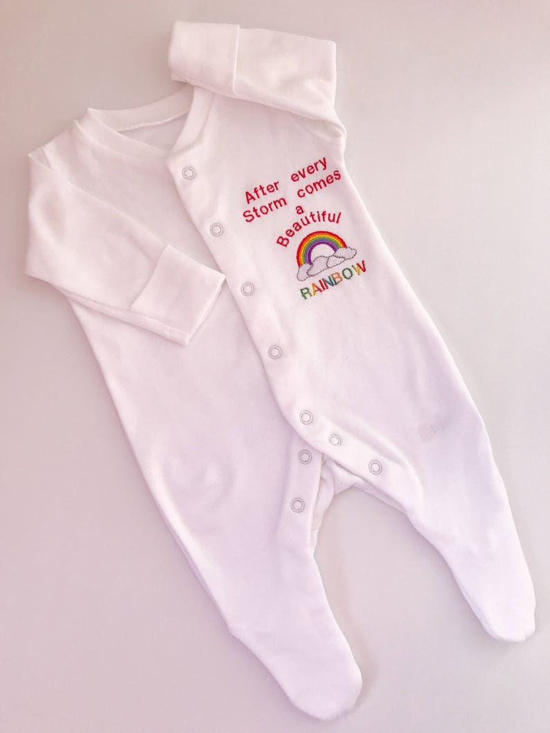 Rainbow Baby clothes Newborn Outfit After Every Storm Comes a Rinbow. Coming Home Outfit Baby Rainbow Baby Outfit Rainbow Baby Bodysuit