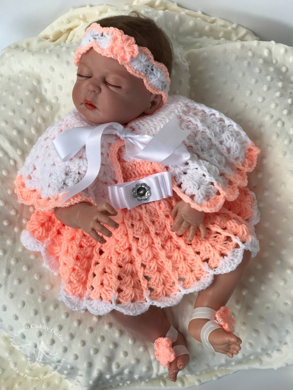 Made to order Avalible sizes Newborn to 12 Months Crochet baby girl outfit Newborn girl coming home outfit Baby girl pants and hat set