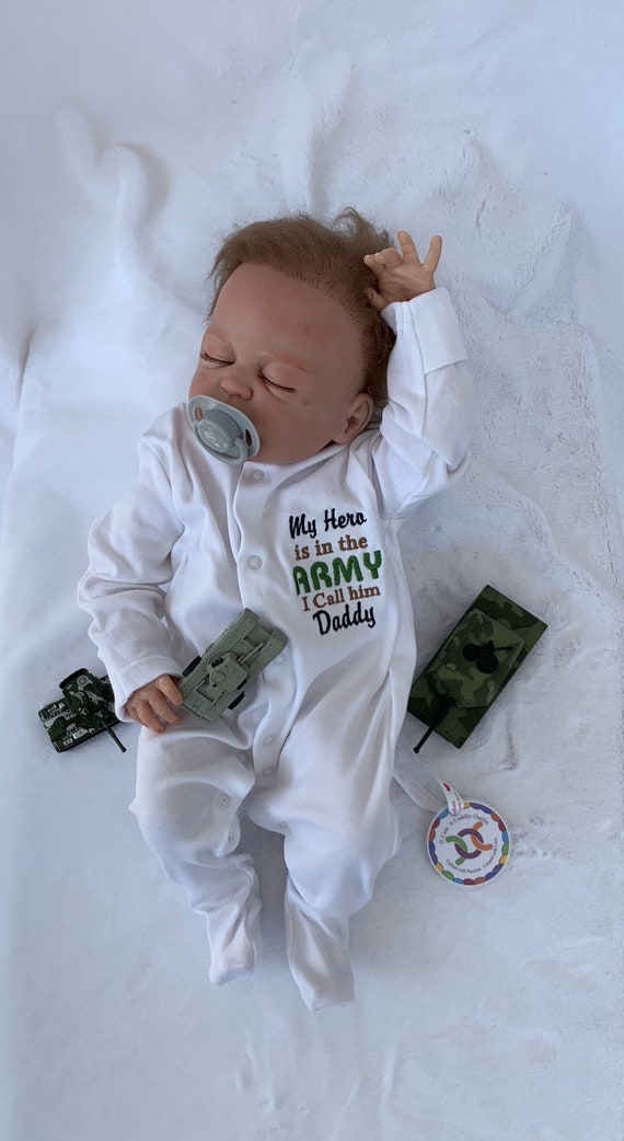 INFANT Toddler BABY Digital CAMO My daddy/'s got you back-Army ONESY