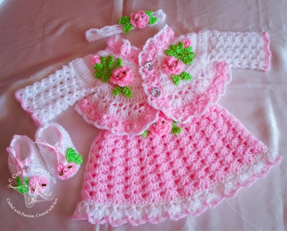 Crochet Baby Patterns Crochet Baby Dress Pattern Crochet Etsy Beauteous Crochet Baby Dress Pattern