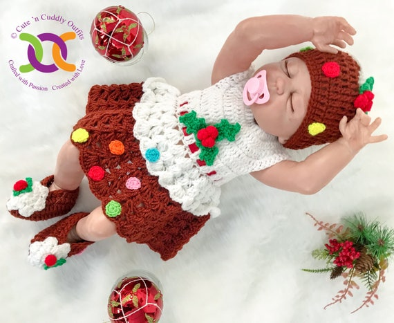 Christmas Pudding Outfit.Baby Christmas Dress Baby Girl Clothes Baby Girl Christmas Outfit Flower Girl Dress Christmas Pudding Baby Outfit Baby Shower Gift