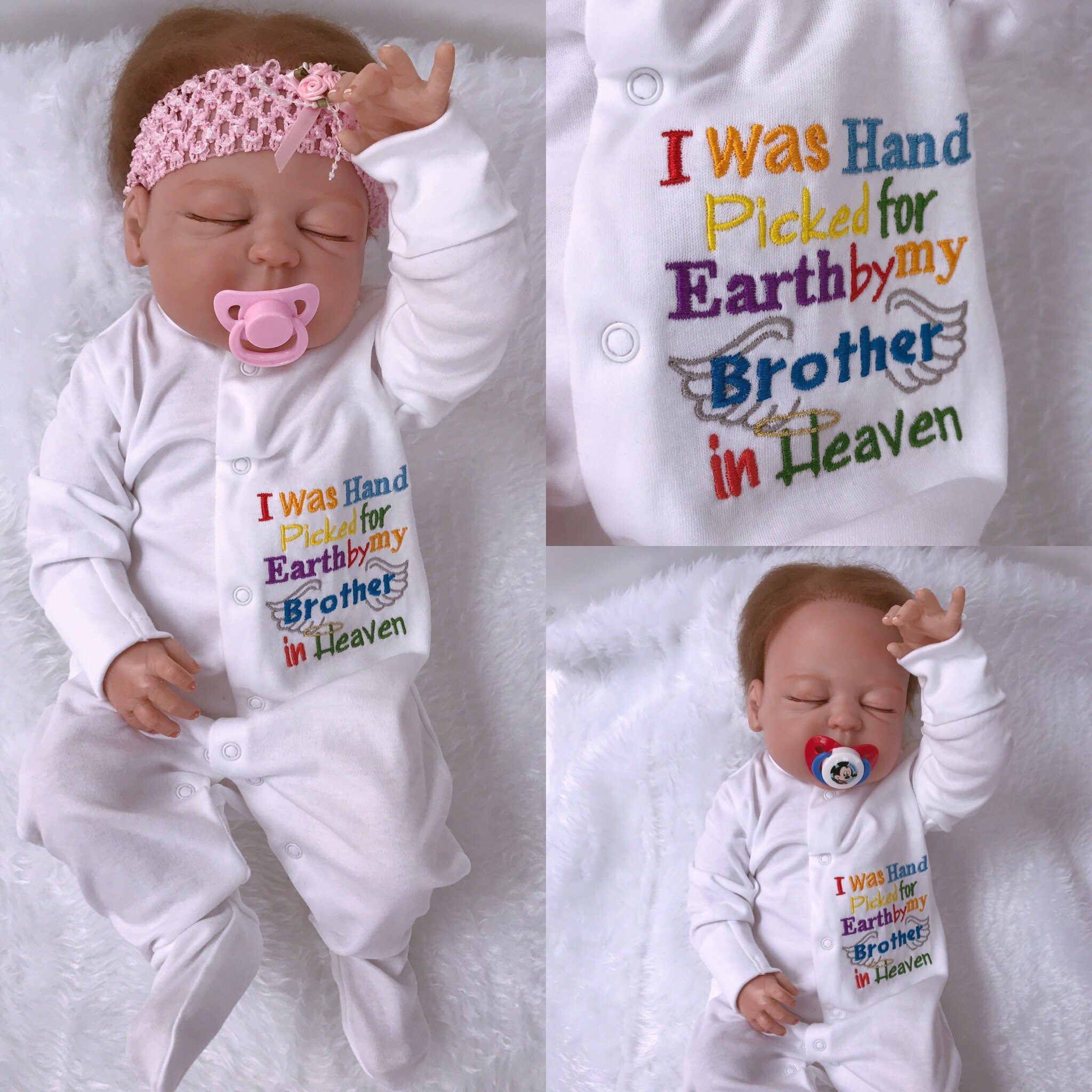 61662caabf98 Rainbow baby Outfit Hand Picked for Earth Baby Sleep Suit | Etsy