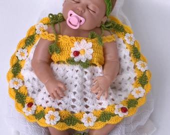 Flower Girl Dress White, Flower Girl dress Yellow, Flower girl dress Gold, Newborn Outfit, Coming Home Outfit Baby Girl, Going Home Outfit