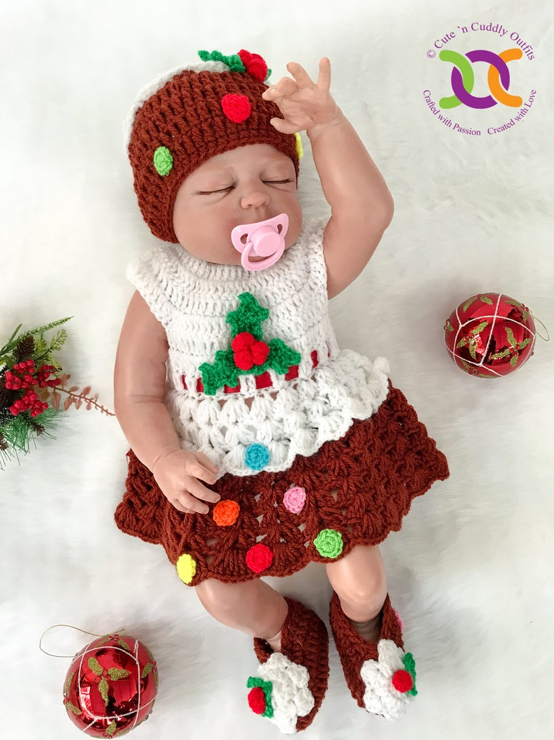 3847d9fe6 Baby Christmas Dress Baby Girl Clothes Baby Girl Christmas | Etsy