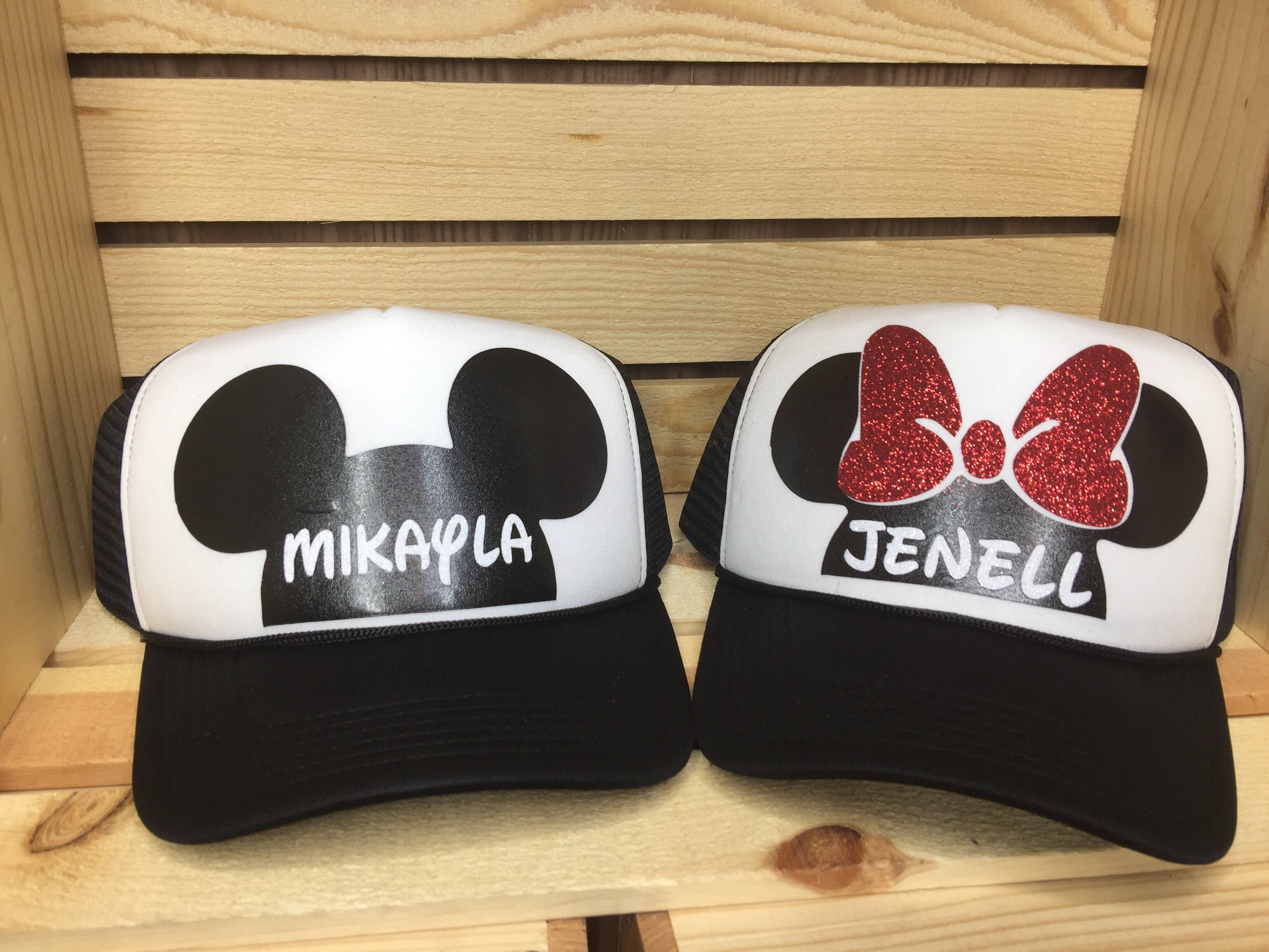 Disney trucker hat Minnie Mouse Mickey Mouse personalized  b88fb8f5180