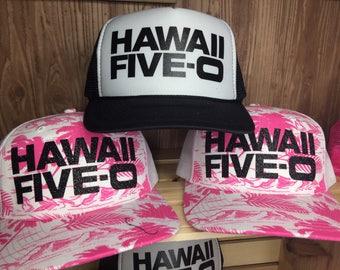 50th BIRTHDAY, HAWAII-50,Hawaiian birthday, destination birthday, Hawaii,  milestone  birthday, Hawaiian themed birthday, Hawaii Trucker Hat