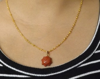 Happy Red Sun Necklace